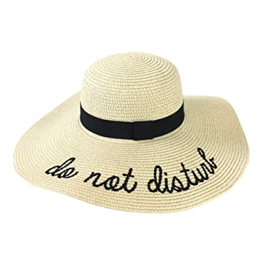 e504e06b Fashion Culture Women's 'Do Not Disturb' Floppy Sun Hat, Beige ...