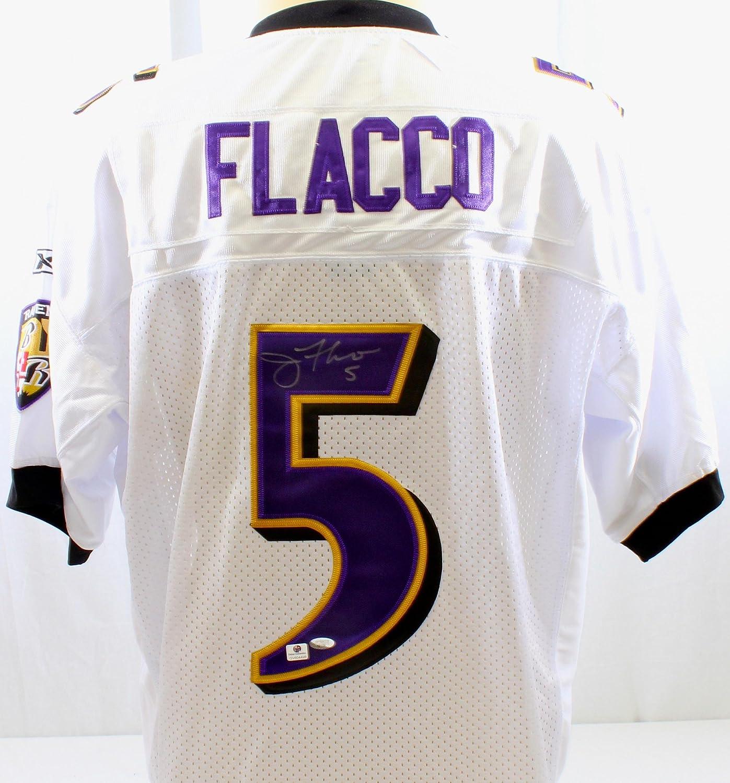 Joe Flacco Autographed Jersey - GA Certified - Autographed NFL ...