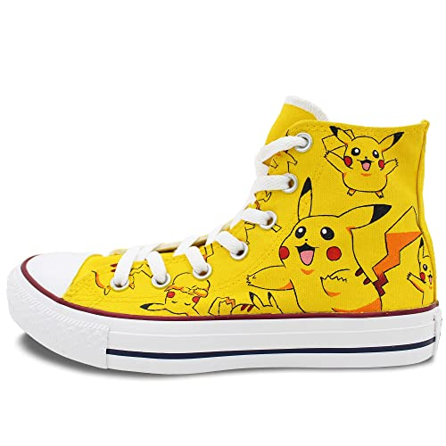 465054b0ad6a Converse Pokemon Pikachu Shoes Men Women Hand Painted High Top Canvas  Sneaker (M5.5 W7.5)  Amazon.ca  Shoes   Handbags