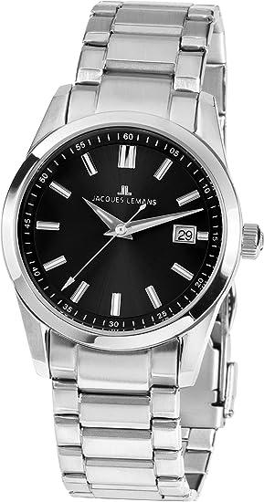 Jacques Lemans Liverpool - Reloj de pulsera analógico de cuarzo Acero inoxidable 1 - 1868 a: Amazon.es: Relojes