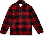 Amazon Essentials Boy's Polar Fleece Lined Sherpa Quarter-Zip Jacket