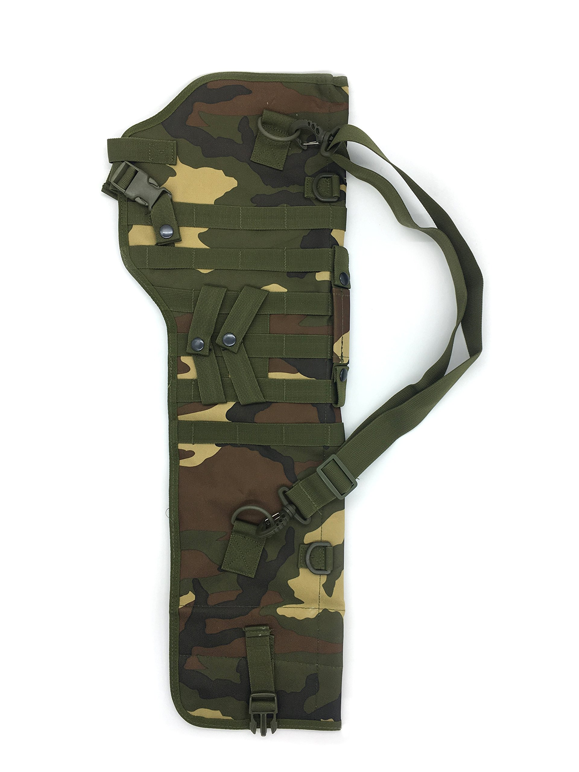 Silfrae Tactical Shotgun Rifle Scabbard Bag Shoulder Bag (Classic Camo) by Silfrae