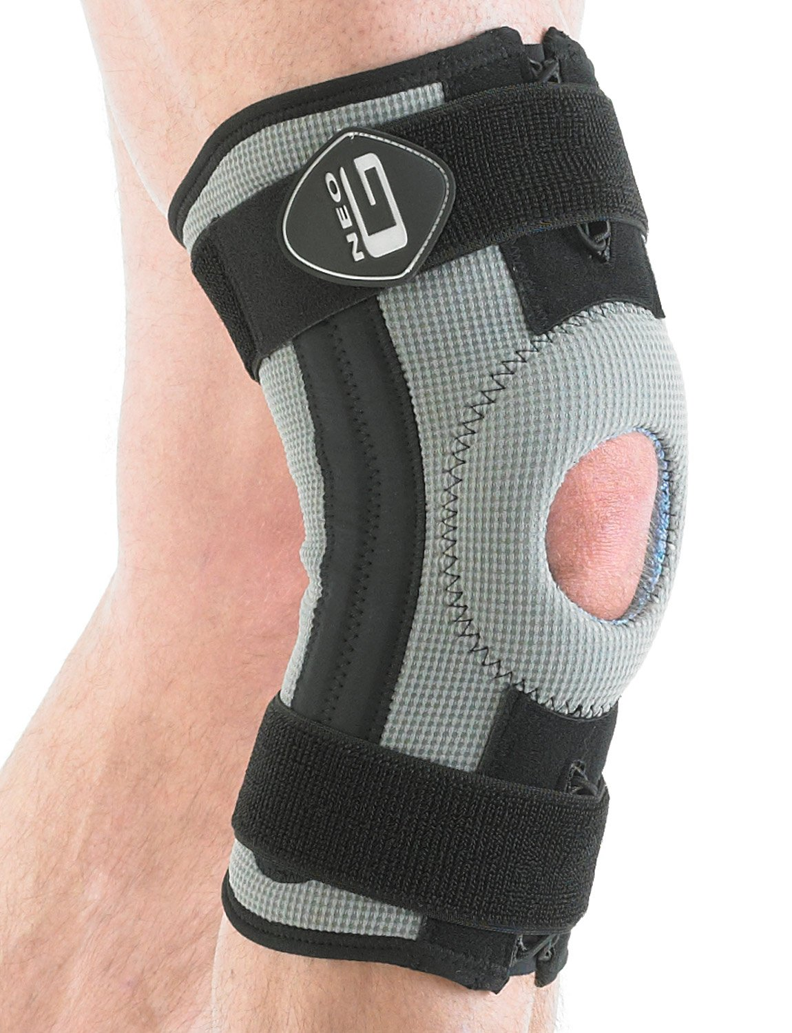 NEO G RX Stabilized Knee Support - LARGE - Medical Grade Quality, breathable fabric HELPS injured, weak or arthritic knees, strains, sprains, pain, instability, patellar tracking - Unisex Support