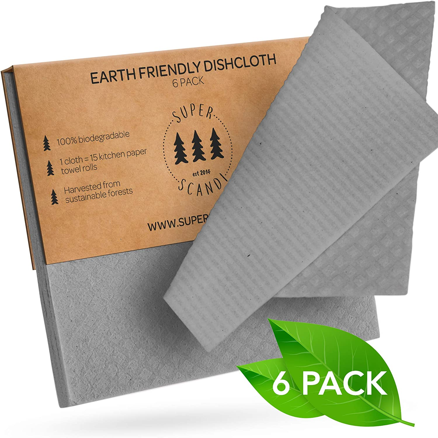 Superscandi Swedish Dishcloths Environment Friendly Biodegradable Wipes Reusable And Sustainable Cellulose Sponge Kitchen Cleaning Cloths Küche Haushalt