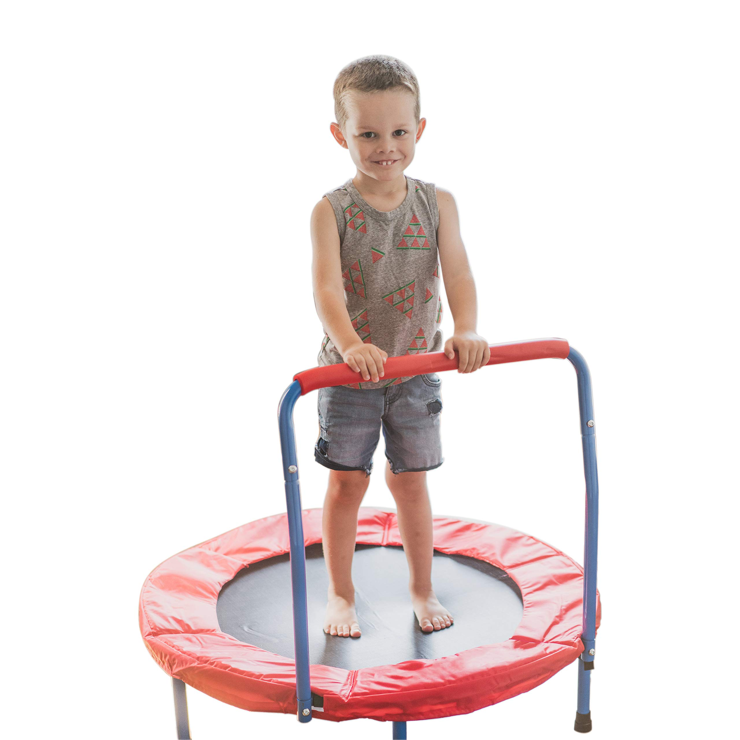 Portable Kids Trampoline with Handle - 36 Inches Outdoor or Indoor Trampoline for Kids - Sturdy Durable Ensure Safety - Build Confidence and Physical Strength Activity - Easy to Assemble Toddler Toys by Toy Goodkids (Image #1)