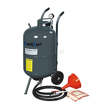 SwitZer 20 Gallon Sandblaster Heavy Duty Equipped With New Sandblast Gun  And Concerned Necessary Parts
