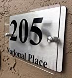 Modern House Number Plaque Sign Acrylic Aluminium