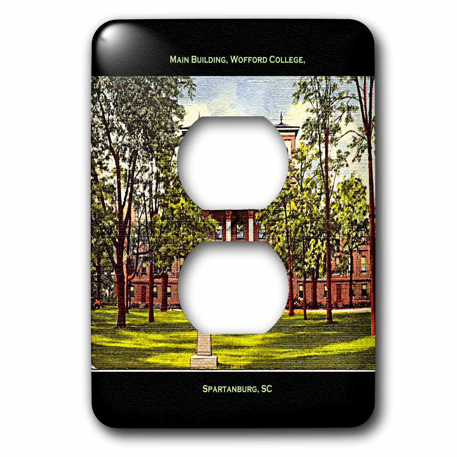 3dRose lsp_61753_6 Main Building, Wofford College, Spartanburg, Sc   2 Plug Outlet Cover