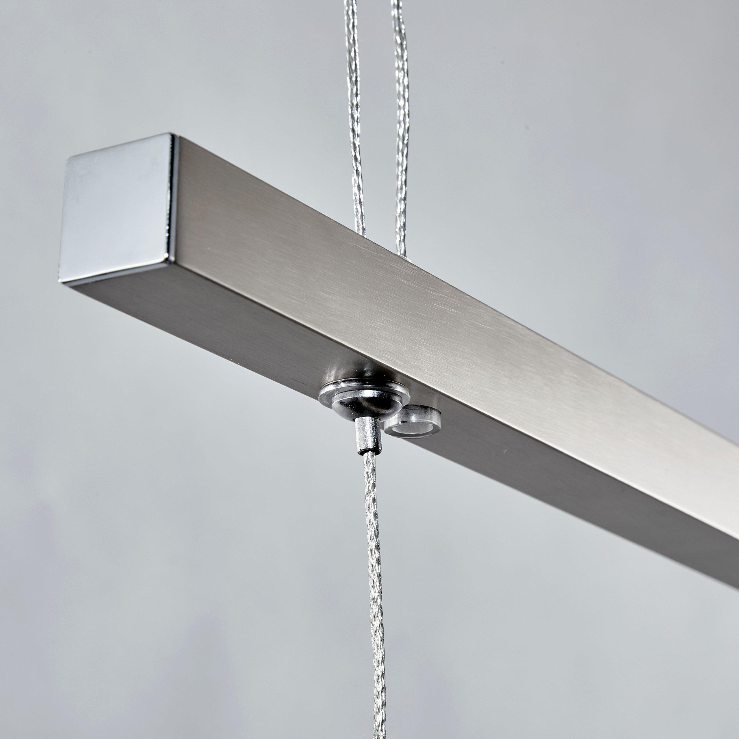 LED Pendelleuchte inkl. 18W 1600lm höhenverstellbar Platine, Esstischleuchte, 3000K warmweiß, IP20 Echtglas