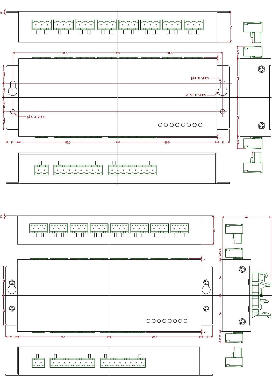 chunzehui aluminum enclosure passive 8 spdt power relay module ac rh best2020 co il
