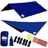 CHILL GORILLA 12' HAMMOCK RAIN FLY TENT TARP Waterproof Camping Shelter. Essential Survival Gear. Stakes Included. Lightweight. Easy to setup. Made from DIAMOND RIPSTOP Nylon