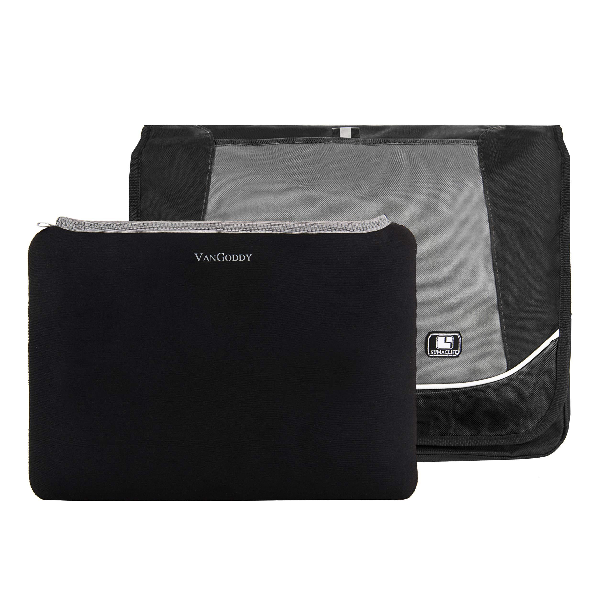 High School & College Back-to-School Combo Pack: Messenger Bag + 14'' Neoprene Laptop Sleeve
