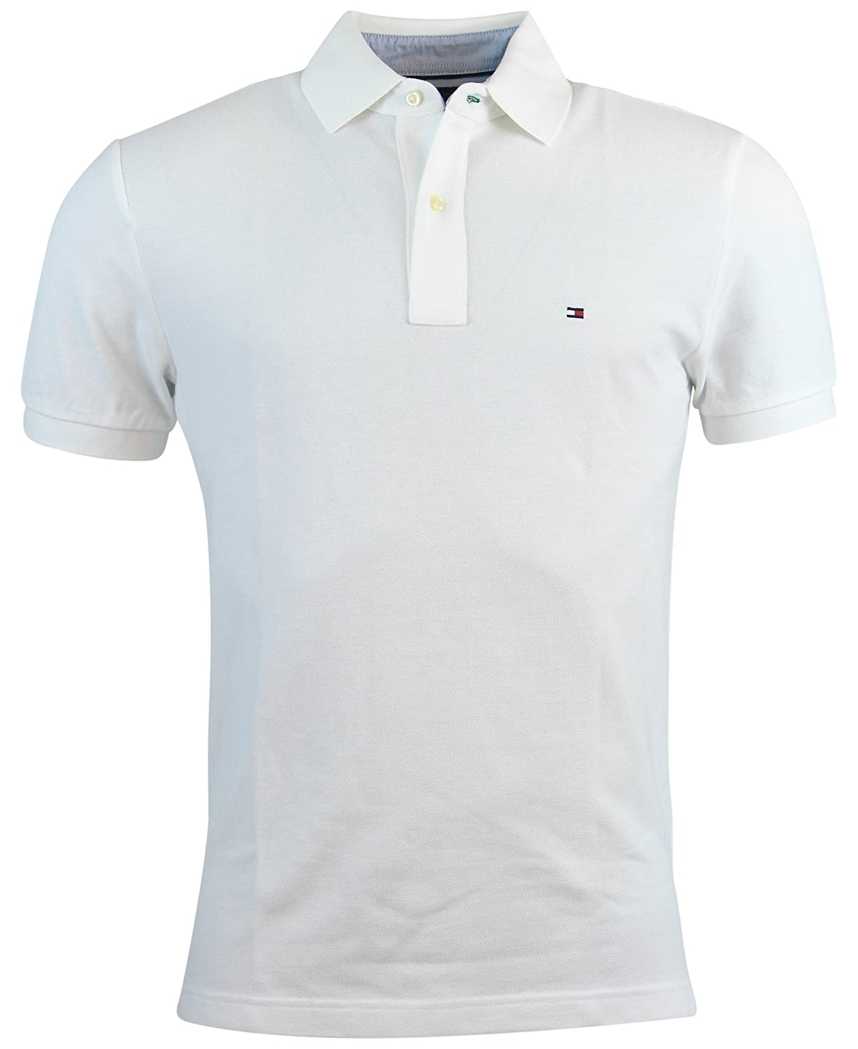 Tommy Hilfiger Mens Custom Fit Solid Color Polo Shirt At Amazon