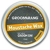 Groomarang baffi & barba cera Extra forte originale 100% capelli naturali cura organica & Vegan 15ml