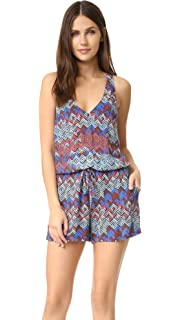 94bdb2625d Amazon.com: Ella Moss Women's Broderie Anglaise Embroidered Romper ...