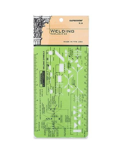 amazon com rapidesign welding pocket size template 1 each r34