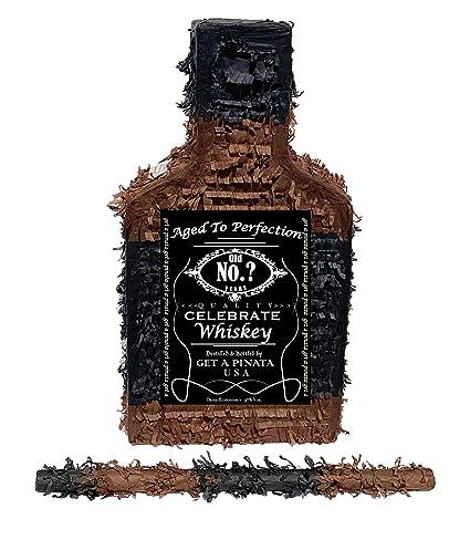 Amazon.com: Piñata para botella de whisky con palo, 16.5 x ...