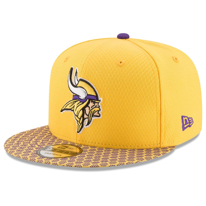 Minnesota Vikings New Era 9 Fifty NFL 2017サイドラインスナップバックキャップ One-Size / Adjustable  B0751W4XFL