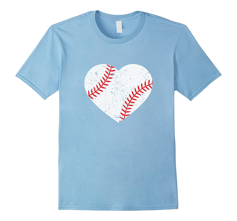 Baseball Heart T-Shirt Softball Lover Tee Baseball Mom Shirt-PL