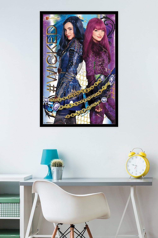 Trends International Framed Poster Descendants 2 – Wicked, 24.25 x 35.75