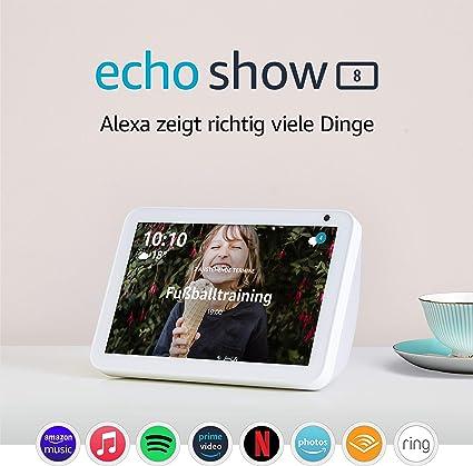 Echo Show 8 Durch Alexa In Verbindung Bleiben Sandstein Stoff Alle Produkte