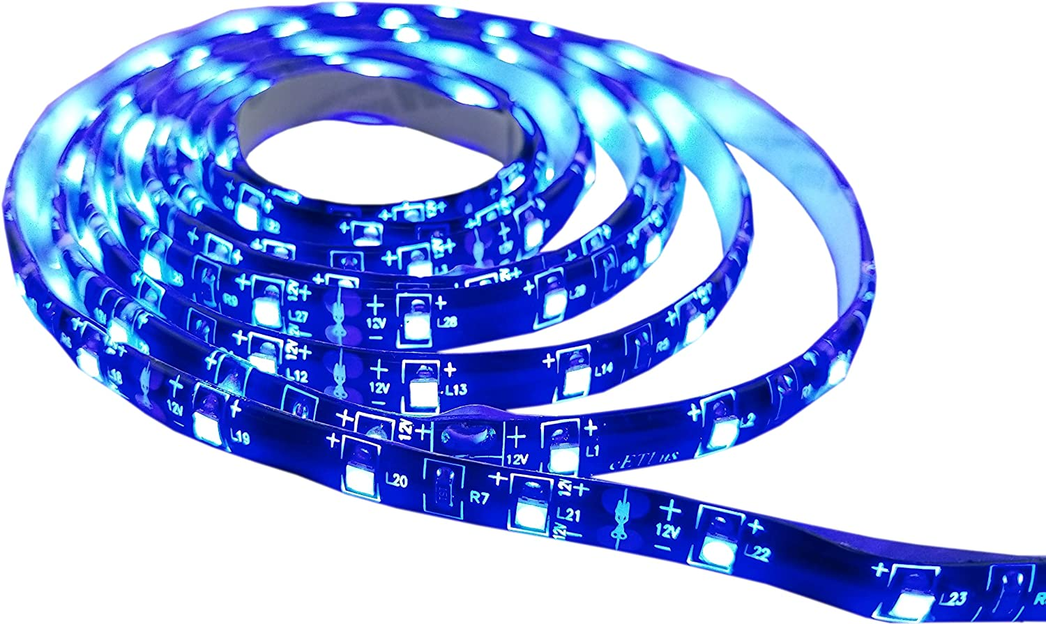 2 PACK 20 inch Cool White Marine LED Light Strips IP65 Waterproof Rating