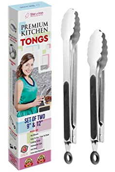 Review Metal Tongs Stainless Steel