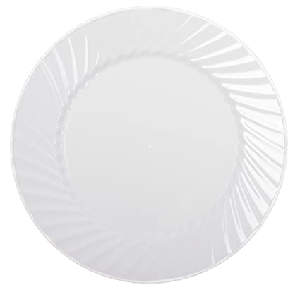 Zappy Disposable Plastic Plates Dinner Plates Buffet Plates Premium Quality White Dinner Plates Hard Plastic  sc 1 st  Amazon.com : gourmet home products plastic plates - pezcame.com