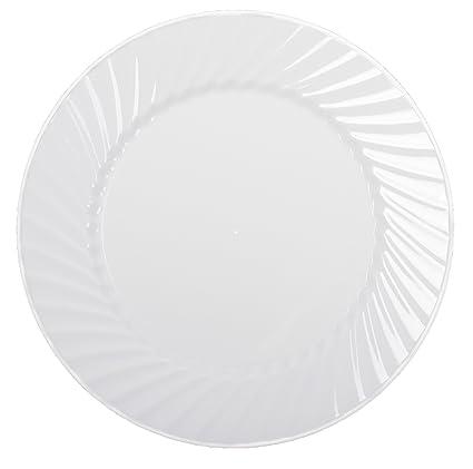 Amazon.com: Zappy Disposable Plastic Plates, Dinner Plates Buffet ...