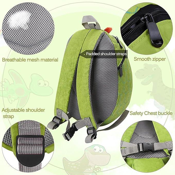 Amazon.com | QZBAOSHU Childrens Safety Harness Backpacks Girl Boys Baby Anti-lost Package Dinosaur Bags (Green) | Kids Backpacks