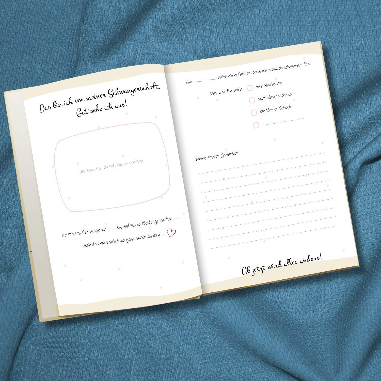 f/ür Erinnerungen Luminick Schwangerschaftstagebuch Tagebuch Schwangerschaft 128 Seiten mit Papaseite viel Platz f/ür Bilder /& Texte zum Eintragen und Selberschreiben