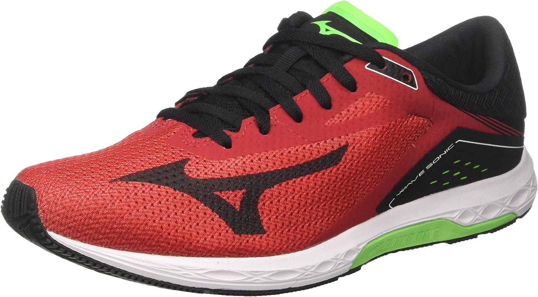 Mizuno Wave Sonic, Zapatillas de Running para Hombre, Multicolor (Formulaone/Black/greenslime 13), 42.5 EU: Amazon.es: Zapatos y complementos