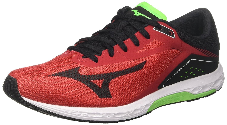 Mizuno Wave Sonic, Zapatillas de Running para Hombre 42.5 EU|Multicolor (Formulaone/Black/Greenslime 13)