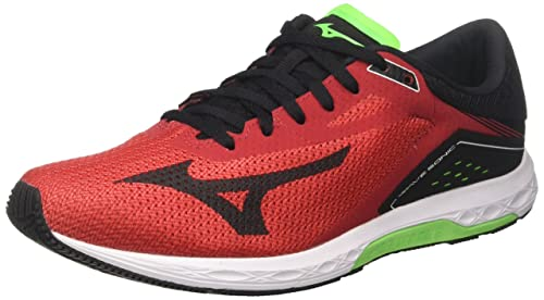 ee12364c9aa1 Mizuno Men's's Wave Sonic Running Shoes Multicolor (Formulaone/Black/ greenslime ...