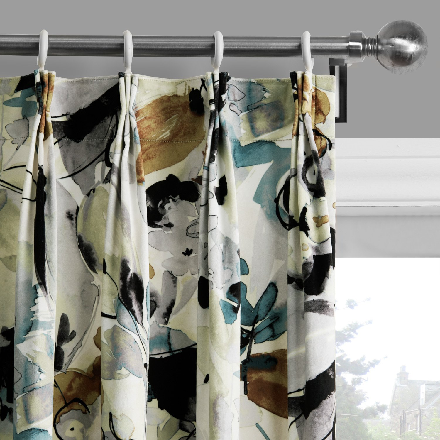 25 Sizes Available (Set of 1 panel) (72''W x 84''L) Pleated Top Contemporary Print Artistic Oil Painting Style Abstract Floral Blackout Lining Window Treatment Draperies & Curtains Panels