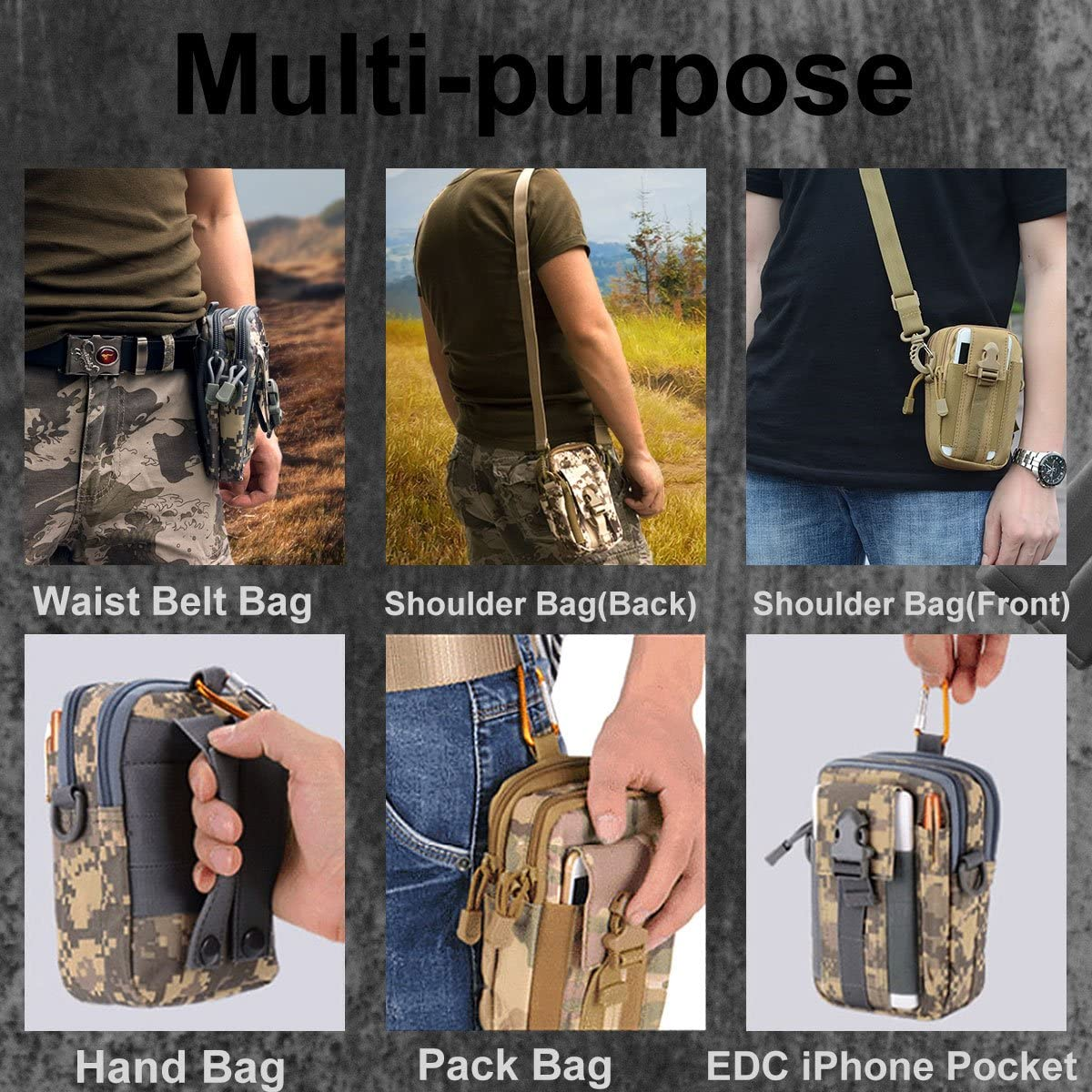 Details about  /Outdoor Tactical Sling Bag Military Backpack Pack Small Molle Pouch Bag Belt