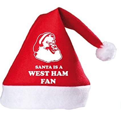 408e7dbe448 Santa is a West Ham Fan Christmas Hat  Amazon.co.uk  Clothing