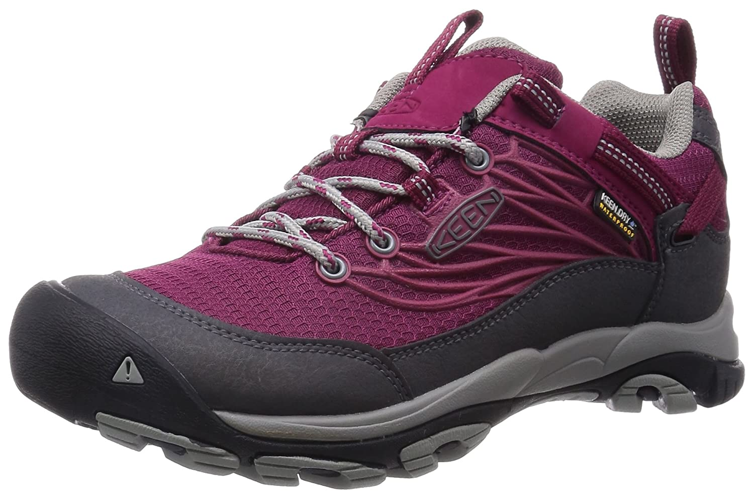 KEEN Women's Saltzman Waterproof Hiking Shoe B00RLVTJSK 5 B(M) US|Beet Red/Neutral Gray
