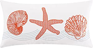 C&F Home Cora Coastal Embroidered Pillow 12 x 24 12 x 24 Orange