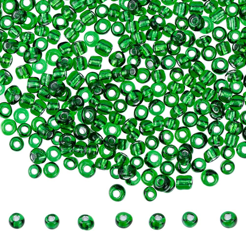 4500pcs Transparent Rond en Verre Dépoli seed beads Tiny Loose Spacer Beads 4 mm