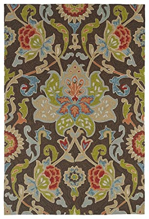 Amazon Com Kaleen Rugs Home Porch Indoor Outdoor Rug Chocolate
