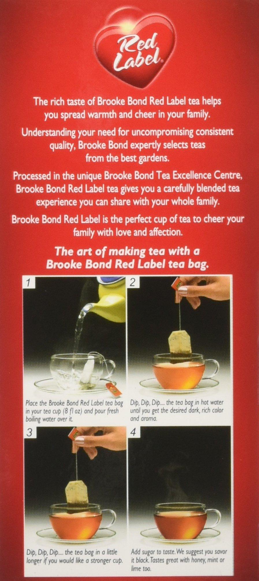 Brooke Bond Red Label Tea Bags, 100 Count (Pack Of 12) by Brooke Bond (Image #4)