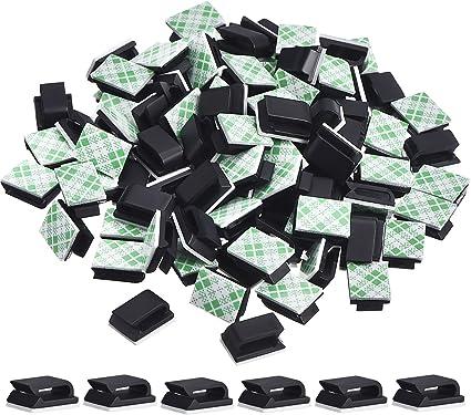 100 Stück Klebstoff Kabelclips Kabelklemmen Kabelmanagement Kabelhalter 13 X 10 Mm Schwarz Amazon De Bürobedarf Schreibwaren
