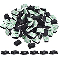 100 Pieces Adhesive Cable Clips Wire Clips Cable Management Wire Cord Holder