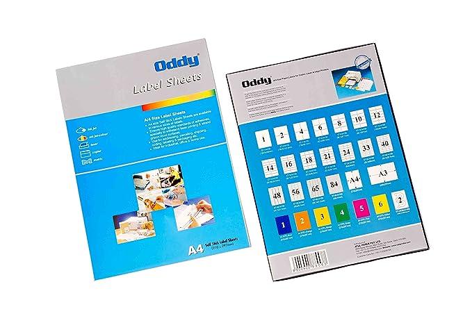 Oddy A4 Size Transparent Paper Labels For Laser Inkjet Copiers