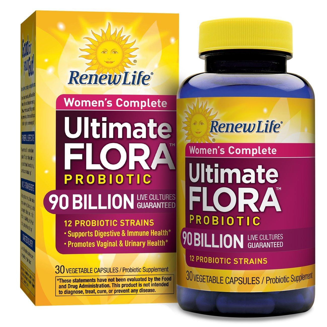 Renew Life - Ultimate Flora Probiotic Women's Care - 90 billion - 30 vegetable capsules