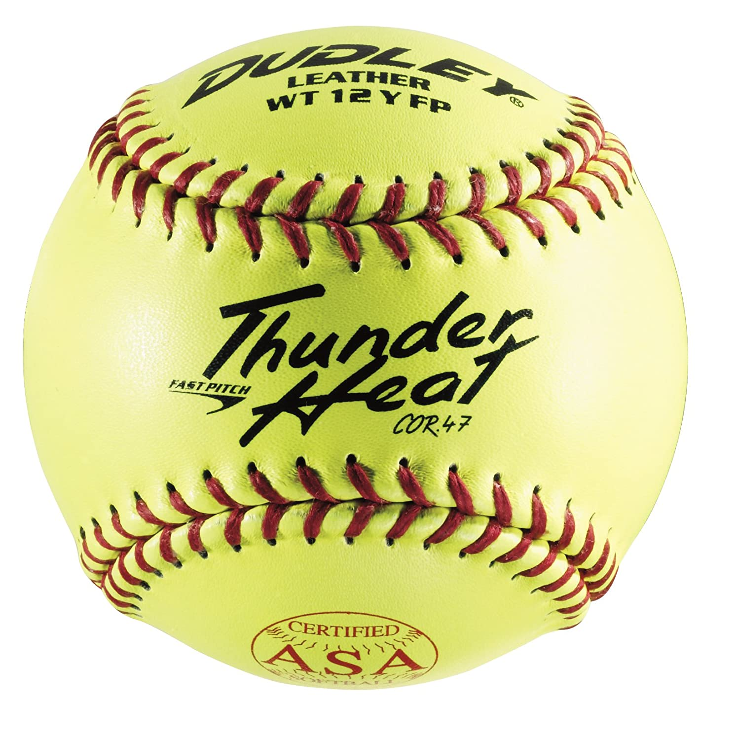 Dudley ASA Thunder Heat Fast Pitch Leather 12-Inch Soft Ball - Pack of 12 4A-147Y