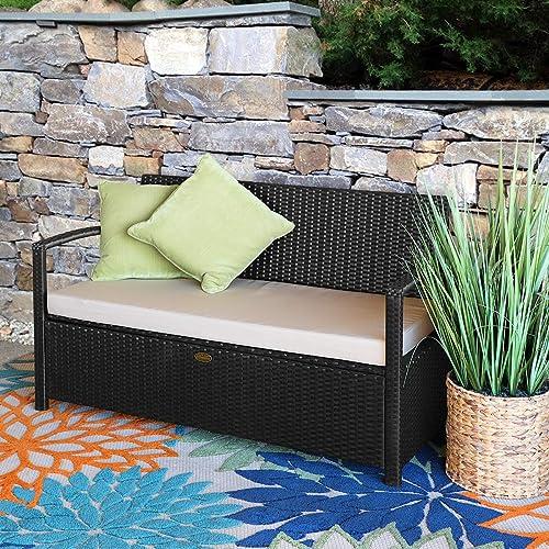Barton Outdoor Garden All Weather Storage Bench