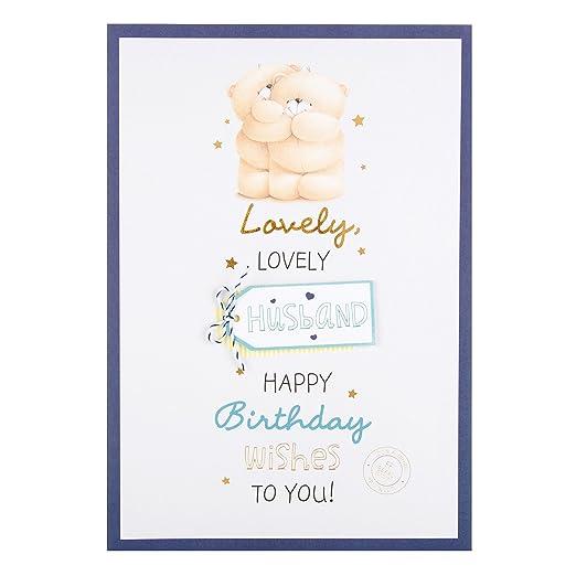 Tarjeta de cumpleaños mediana para marido de Hallmark con ...