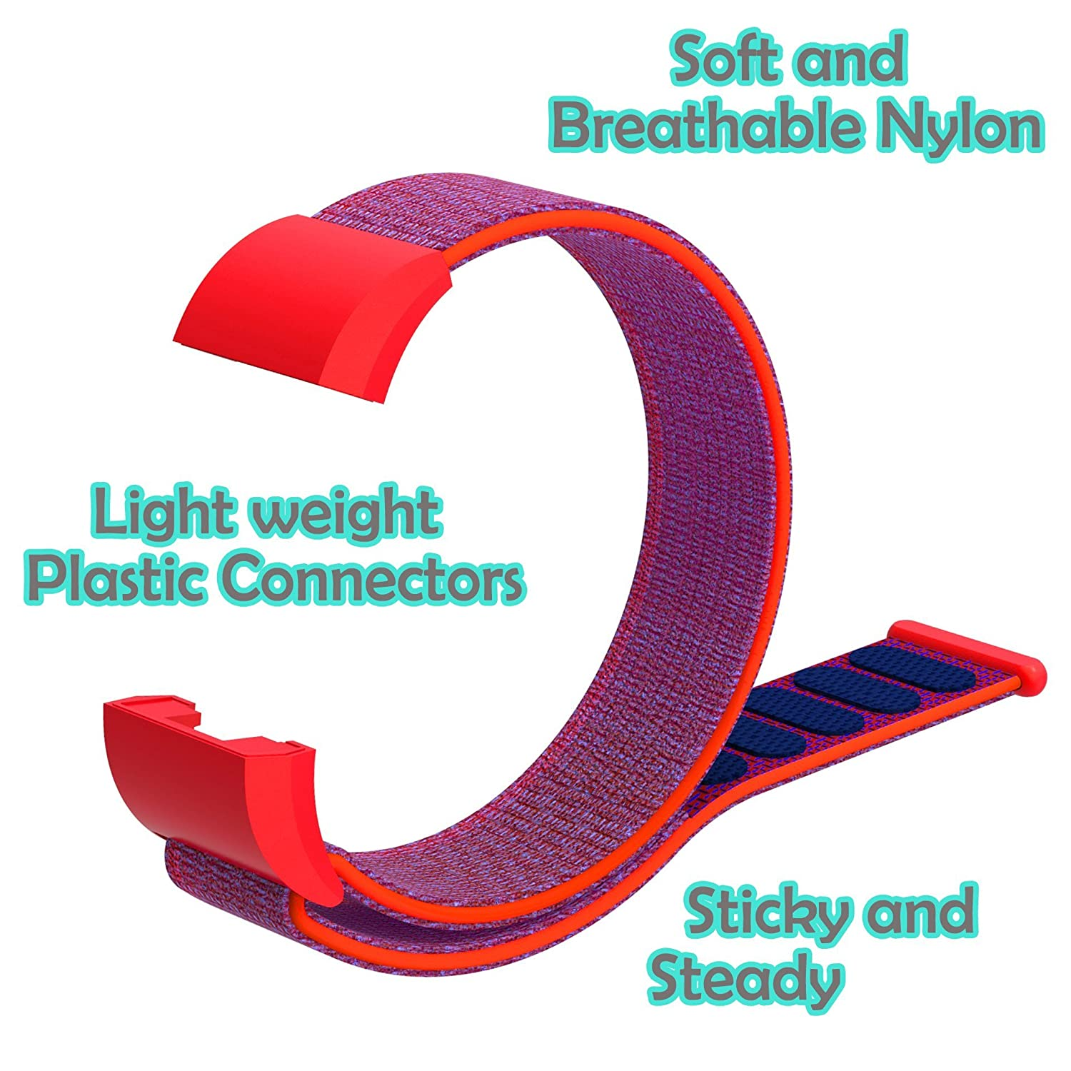 CosyZanx Compatible with Fitbit Charge 2 Bands Woven Soft Nylon Sport Wristbands for Men Women Lightweight Replacement Straps Accessories Bands for Fitbit Charge 2 Fitness Tracker